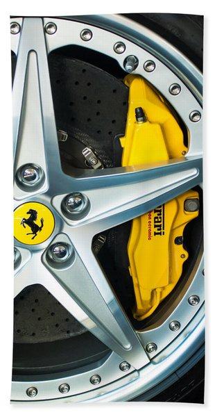 Hand Towel featuring the photograph Ferrari Wheel 3 by Jill Reger
