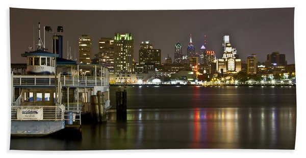 Ferry To The City Of Brotherly Love Bath Towel