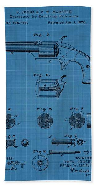 Firearm Extractor Blueprint Patent Bath Towel