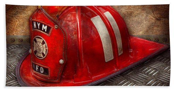 Fireman - Hat - A Childhood Dream Bath Towel