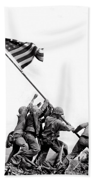 Flag Raising At Iwo Jima Hand Towel