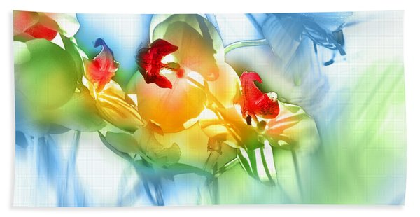 Flores En La Ventana Hand Towel