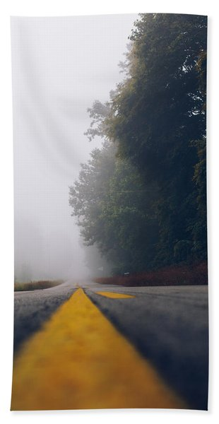 Fog On Highway Bath Towel