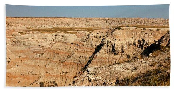 Fossil Exhibit Trail Badlands National Park Hand Towel