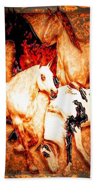 Four Horses Hand Towel