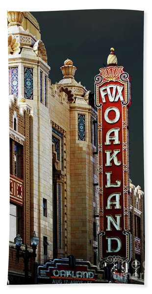 Fox Theater . Oakland California Bath Towel