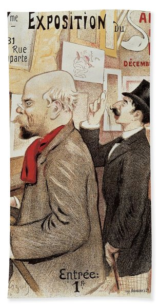France Paris Poster Of Paul Verlaine And Jean Moreas Hand Towel