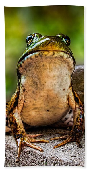 Frog Prince Or So He Thinks Bath Towel