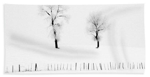 Frosted Trees Hand Towel