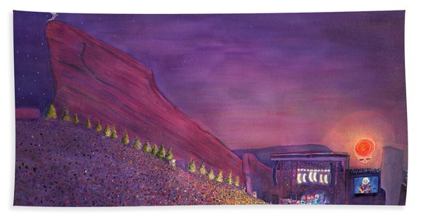 Furthur Red Rocks Equinox Hand Towel