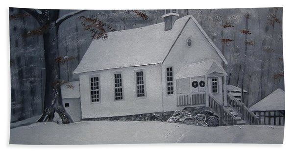 Gates Chapel - Ellijay - Signed By Artist Hand Towel