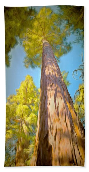 Giant Sequoia Tree Bath Towel