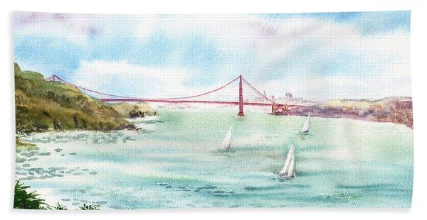Golden Gate Bridge View From Point Bonita Hand Towel