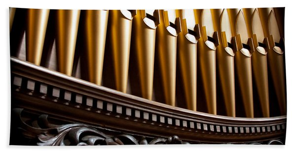 Golden Organ Pipes Hand Towel