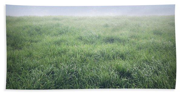 Grass And Sky  Bath Towel