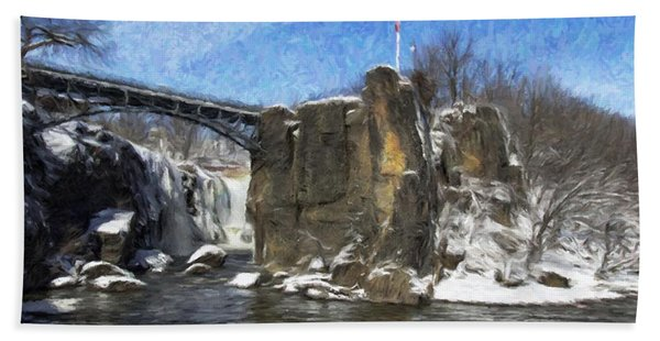 Great Falls Painted Hand Towel