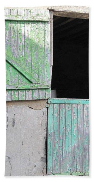 Green Stable Door Hand Towel