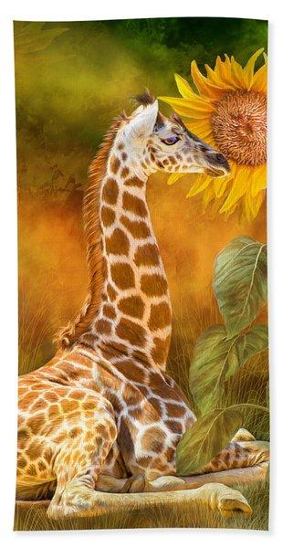 Growing Tall - Giraffe Hand Towel