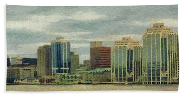 Halifax From The Harbour Hand Towel