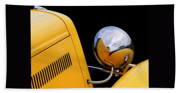 Headlight Reflections In A 32 Ford Deuce Coupe Hand Towel