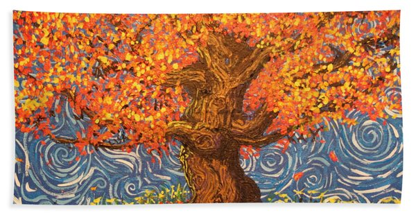 Healthy At Home Tree Hand Towel