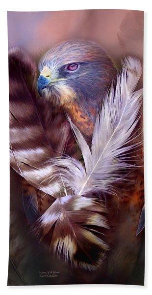 Heart Of A Hawk Hand Towel