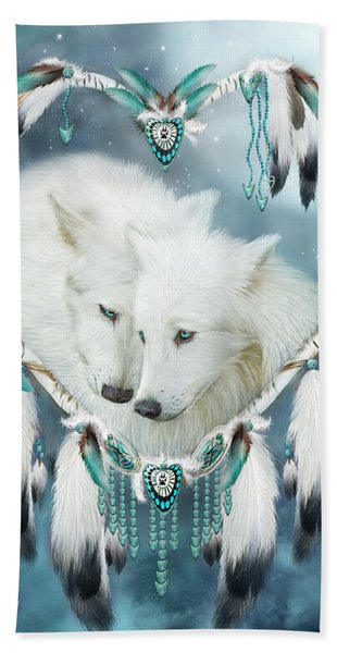 Heart Of A Wolf Hand Towel