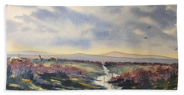 Heather On The Road To Fairy Plain  Hand Towel