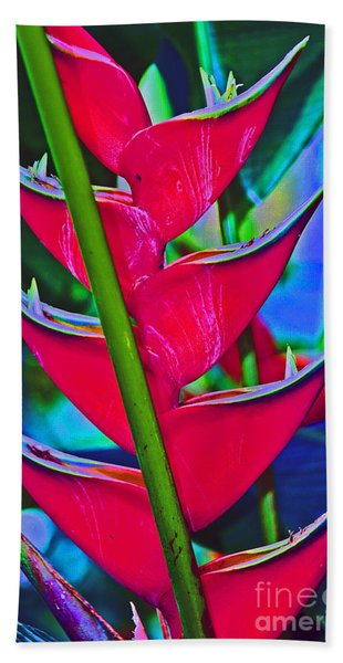 Heliconia Abstract Hand Towel