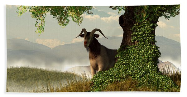 Hide And Goat Seek Hand Towel