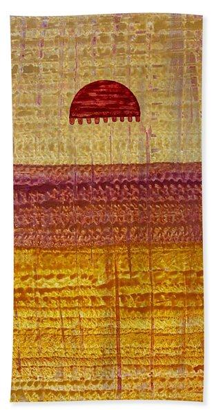 High Desert Horizon Original Painting Hand Towel