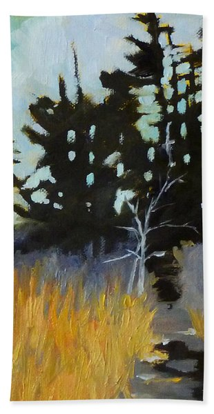 Hiking The Winter Trail Hand Towel