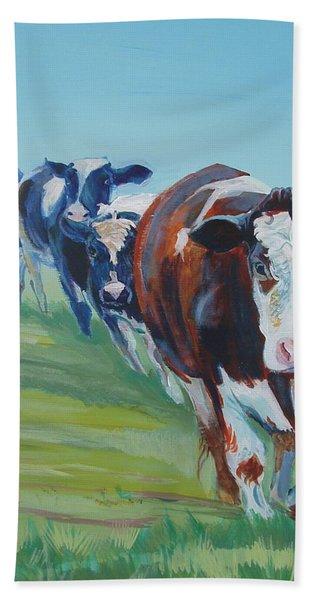 Holstein Friesian Cows Bath Towel