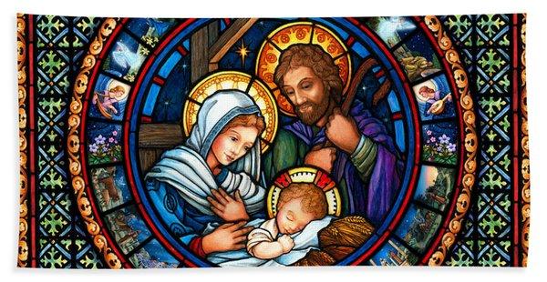 Holy Family Christmas Story Hand Towel