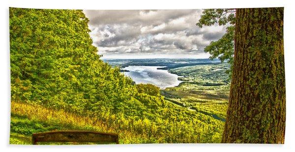 Honeoye Lake Overlook Bath Towel