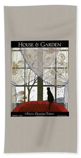 House And Garden Cover Bath Towel