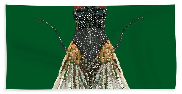 House Fly In Green Hand Towel