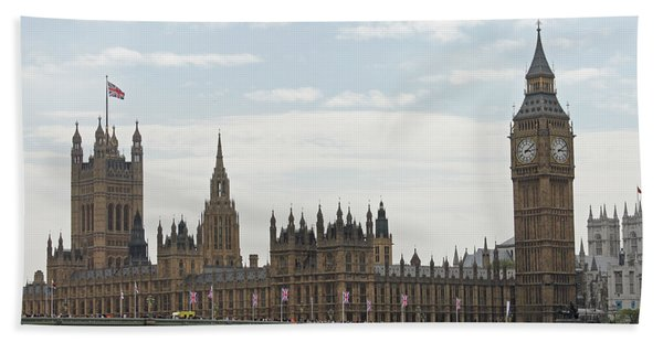 Houses Of Parliament Hand Towel