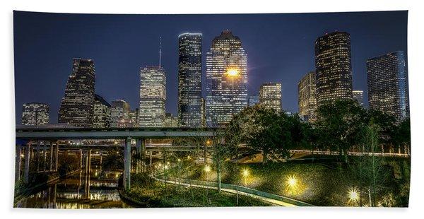 Houston On The Bayou Bath Towel