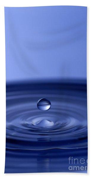 Hovering Blue Water Drop Bath Towel