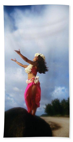 Hula Dancer Hawaii Hand Towel