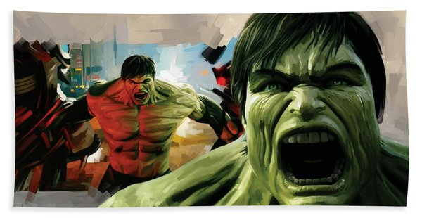 Hulk Artwork Bath Towel