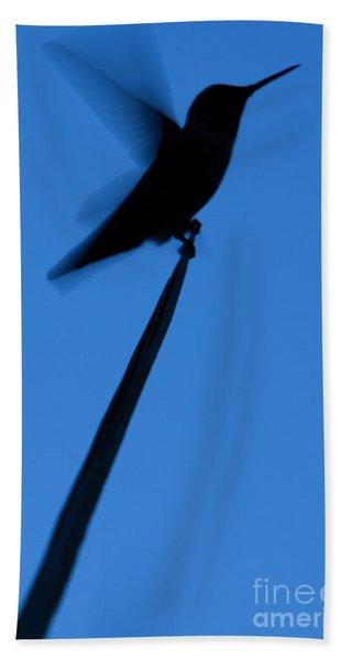 Hummingbird Silhouette Bath Towel