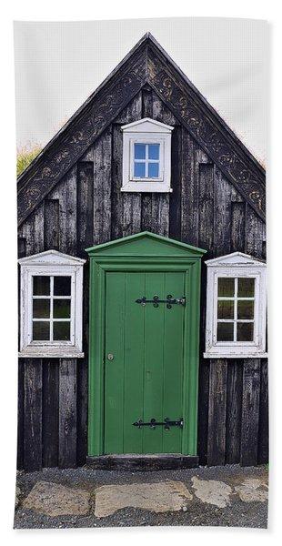 Icelandic Old House Hand Towel