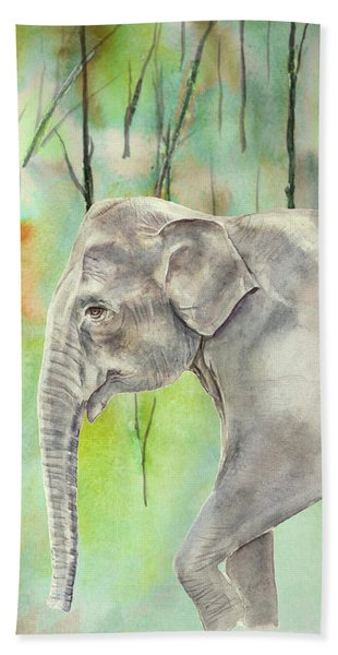 Indian Elephant Hand Towel