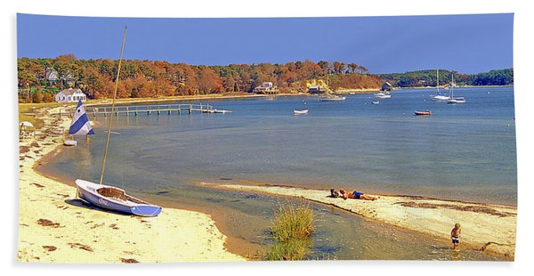 Indian Summer Afternoon Pleasant Bay Cape Cod Massachusetts Hand Towel