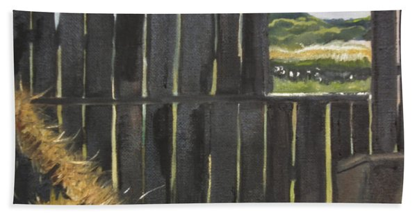 Barn -inside Looking Out - Summer Hand Towel