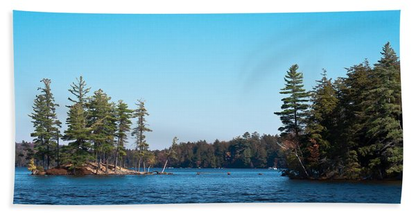 Island On The Fulton Chain Of Lakes Hand Towel