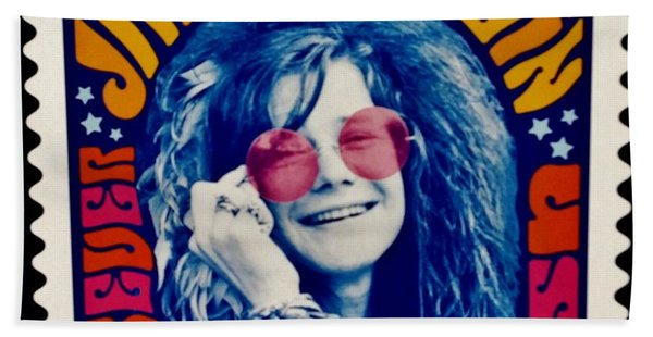 Janis Stamp In A Groovy Vibe Bath Towel