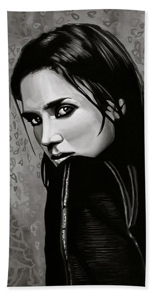 Jennifer Connelly Painting Bath Towel